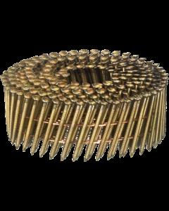 Doos à 12.600 ringspijkers op draad 16° - 2,1 x 38 gegal. fabr. Kenta