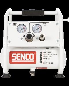 Olievrije geluidsarme compressor 230V 0,75PK, fabr. Senco - type AC10304