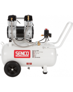 Olievrije geluidsarme compressor 230V, fabr. Senco - type AC24050