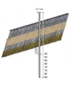 Doos à 4.000 gegalv. stripspijkers - draaddikte 2.8 mm / 34° - , fabr. Dutack