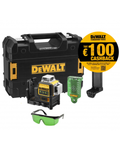 3 x 360° Laser groen 12/18V, fabr. DeWalt - type DCE089NG18-XJ
