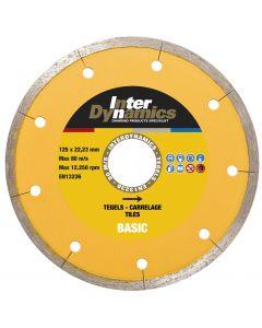 Diamantzaagblad ø 115x22,23mm - tegels, fabr. Inter Dynamics - type Basic