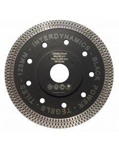 Diamantzaagblad ø 125x22.23mm - tegels, fabr. Inter Dynamics - type BlackPower Premium
