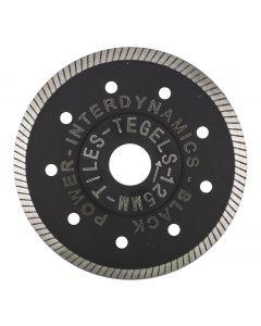 Diamantzaagblad ø 125x22.23mm - tegels, fabr. Inter Dynamics - type BlackPower Standard