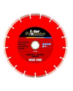 Set à 2 diamantzaagbladen ø 125x22.23mm - universeel, fabr. Inter Dynamics - type High-End