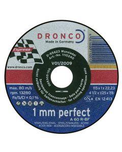 Doorslijpschijf 115x1x22mm, fabr. Dronco