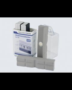 Set à 3 x 2 beschermbekken magnetisch, fabr. Heuer - type N, G, PP 120mm