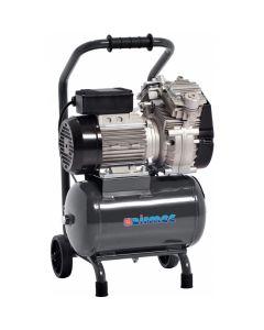 Mobiele olievrije zuigercompressor 230V 1,5PK, fabr. Airmec - type KZ 240-10