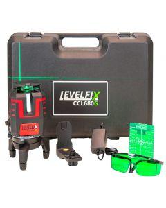 Kruislijnlaser groen 360°, fabr. Levelfix - type CCL680G