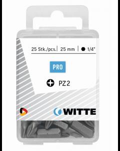 Set à 15 bits PZ - lengte 25 mm, fabr. Witte