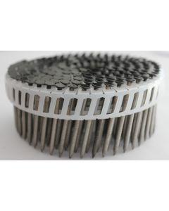 Doos à 1.000 ringspijkers op tape 16° - 2,8 x 65mm / RAL9005 - RVS platkop, fabr. Kenta
