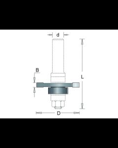 HM schijffrees 40x3x6,35mm, fabr. RVS tools - type 253