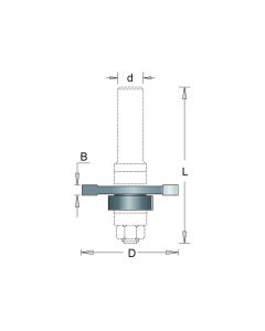 HM schijffrees 40x1,5x6,35mm, fabr. RVS tools - type 250