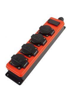 Verdeeldoos 4x230V +USB aansluiting, zonder kabel, fabr. Qwatt Pro
