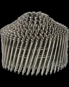 Doos à 2.100 ringspijkers op draad 16° - 2,1 x 35 RVS bolkop, fabr. Kenta