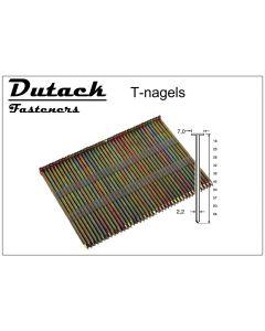Doos à 1.000 gegalvaniseerde T-nagels - draaddikte 2.2mm, fabr. DutackPro