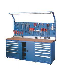 Werkbank 2200x750x825, fabr. Huvema - type BL 12D